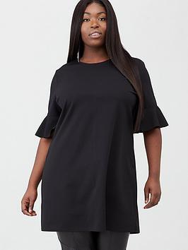 v-by-very-curve-stretch-tunic-black