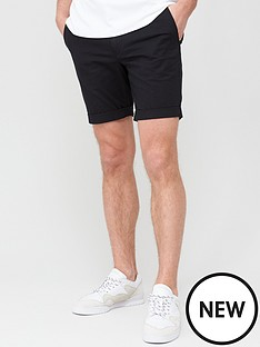 selected-homme-paris-straight-fit-shorts-black
