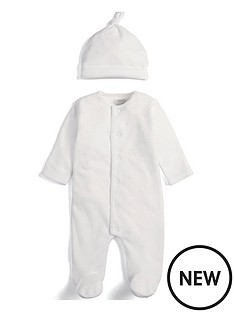 mamas-papas-unisex-cloud-sleepsuit-and-hat-white