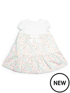 mamas-papas-baby-girls-floral-bow-dress-white