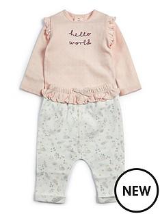 mamas-papas-baby-girls-hello-world-2-piece-set-pink
