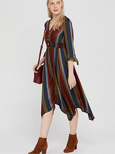 monsoon-westmount-stripe-midi-dress-brown