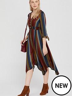 monsoon-westmount-stripe-midi-dress-brown