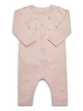 mamas-papas-baby-girls-knitted-sleepsuit-pink