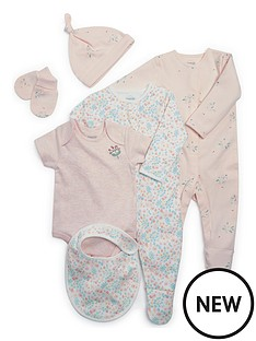 mamas-papas-baby-girls-6-piece-layette-pink