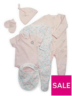 mamas-papas-baby-girls-6-piece-layette-pink