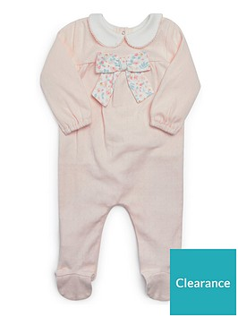 mamas-papas-baby-girls-floral-bow-sleepsuit-pink