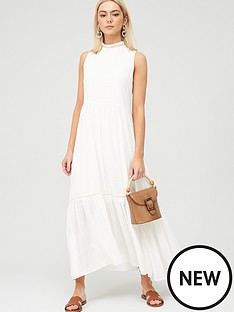 hugo-casual-maxi-sleeveless-dress-white