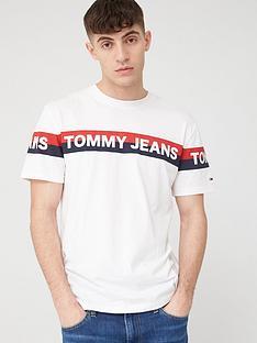tommy-jeans-double-stripe-logo-short-sleeve-t-shirt-white