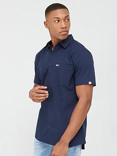 tommy-jeans-short-sleeve-poplin-shirt-twilight-navy
