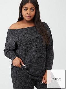 v-by-very-curve-off-the-shoulder-rib-sweat-top-grey-marl