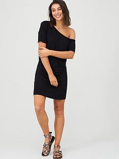v-by-very-off-the-shoulder-beach-tunic-black