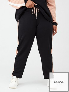 v-by-very-curve-side-panel-colourblock-joggers-blackpink