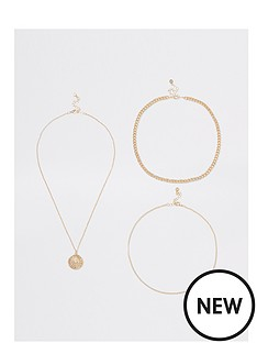 river-island-river-island-layered-chain-necklace-gold