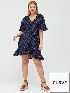 v-by-very-curve-linen-wrap-dress-spot