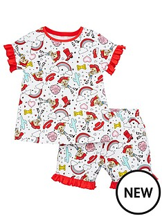 toy-story-girls-jessie-frill-sleeve-t-shirt-and-short-pjs-multi