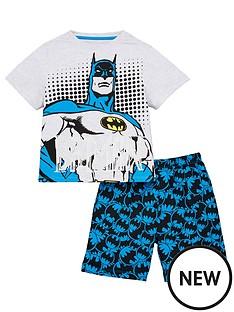 batman-boys-t-shirt-and-short-pjs-grey