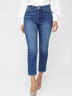 v-by-very-girlfriend-high-waistnbspstraight-leg-jeans-dark-wash