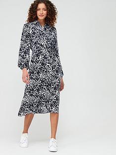 v-by-very-tie-front-midi-shirt-dress-animal
