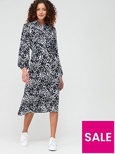 v-by-very-tie-front-midi-shirt-dress-animal