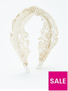 v-by-very-lace-knot-hairband-ivory
