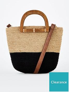 v-by-very-pinta-wooden-handle-weave-crossbody-multi