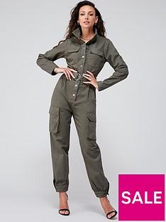 michelle-keegan-minimal-utility-boilersuit-green