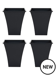 wham-set-of-4-black-23cm-square-metallica-planters