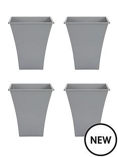wham-set-of-4-silver-23cm-square-metallica-planters