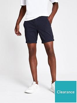 river-island-santo-stripe-shorts-navynbsp