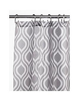 croydex-grey-medallion-shower-curtain