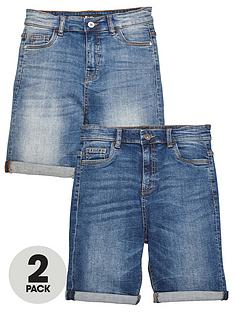 v-by-very-boys-2-pack-regular-fit-denim-shorts-dark-and-light-wash