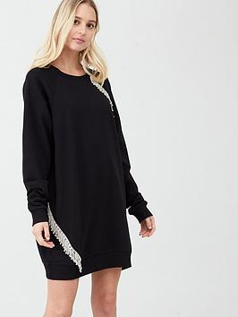 river-island-tassel-detail-oversized-sweatshirt-dress-black