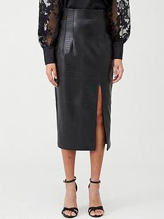 river-island-croc-pencil-skirt-black