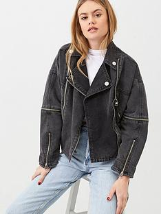 river-island-river-island-belted-zip-front-denim-jacket-black