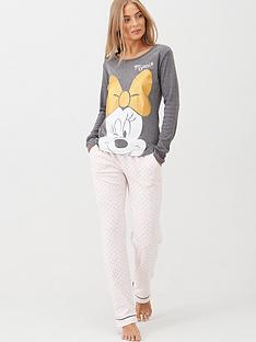 minnie-mouse-glitter-bow-long-sleeve-pyjamas-pink-spot