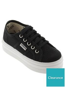 victoria-lace-up-platform-cotton-canvas-plimsoll-black