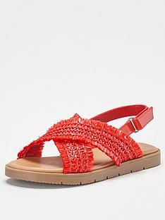 v-by-very-girls-cross-strap-sandal-red