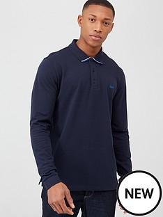hugo-donol-long-sleeve-pique-polo-shirt-navy