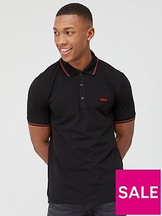 hugo-dinoso-short-sleeve-pique-polo-shirt-black