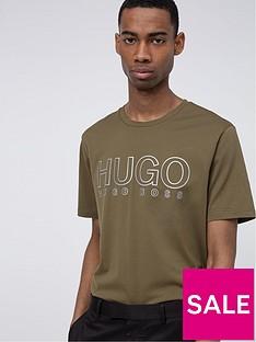 hugo-dolive-3mnbsplogo-t-shirt-khakinbsp
