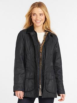 barbour-beadnell-wax-jacket-black