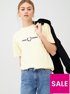 fred-perry-embroidered-t-shirt-yellow