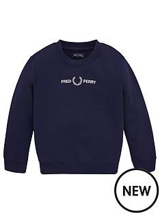 fred-perry-boys-logo-crew-neck-sweat