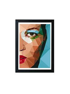 east-end-prints-kate-moss-by-studio-cockatoo-a3-framed-wall-art