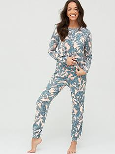 v-by-very-long-sleeve-pyjamasnbsp--palm-print