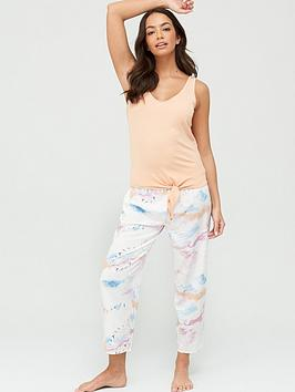 v-by-very-wovenjersey-pyjama-set-cloud-printnbsp