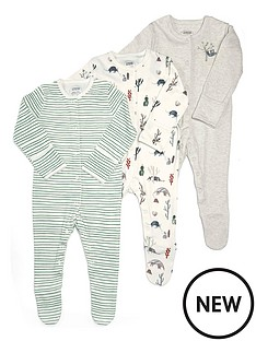 mamas-papas-baby-boys-3nbsppack-outback-sleepsuits-multi