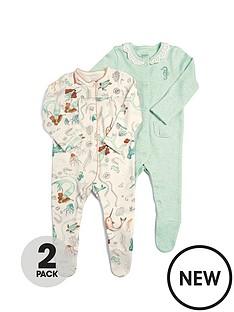 mamas-papas-baby-girls-2nbsppack-mermaid-sleepsuits-multi