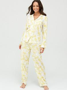 v-by-very-woven-button-upnbsppyjamas-yellow-palm